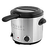 Home Essence 1.5 Litre Family Deep Fryer in Brushed Stainless Steel
