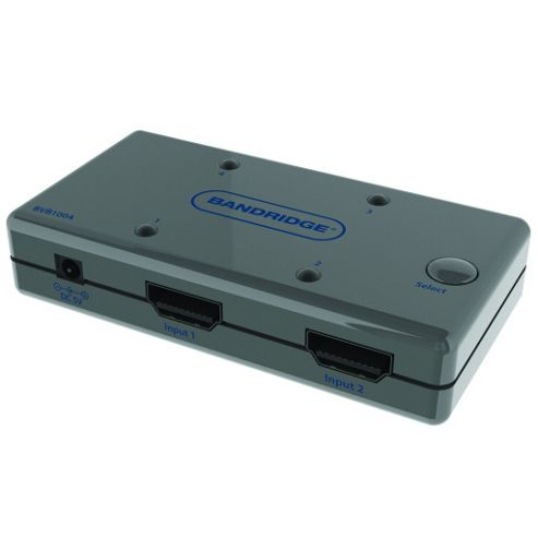 Bandridge Auto Sense 4 Way Port HDMI AV Switch Box Hub