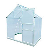 Palm Springs 6X6ft Aluminum Greenhouse With Galvanized Steel Foundation