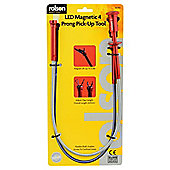 Rolson LED Magnetic 4 Prong Pick-Up Tool