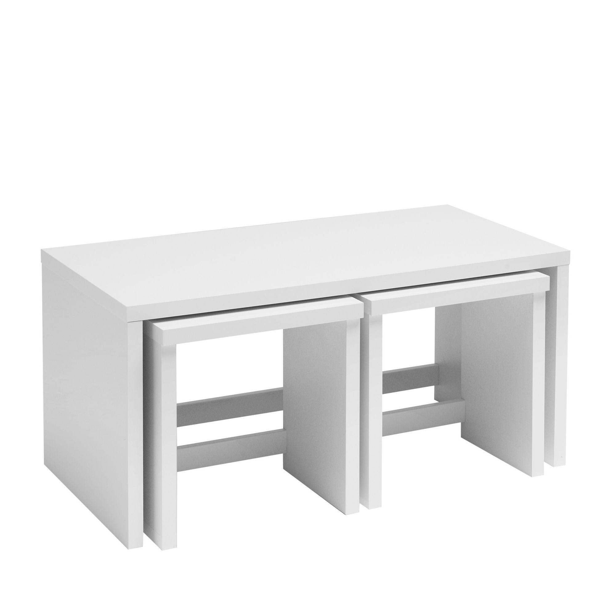 Caxton Manhattan Long John Table in White Gloss at Tesco Direct