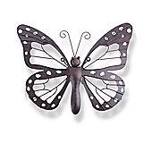 Decorative Metal Butterfly Garden Wall Art Black / Brown Finish