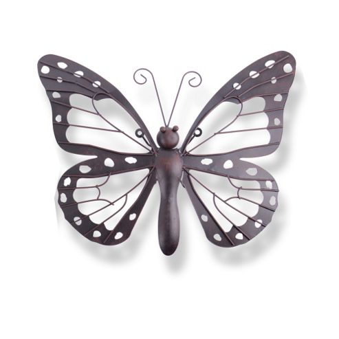 Buy Decorative Dark Metal Butterfly Garden Wall Art Feature From Our Garden C