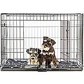 Andrew James Large Foldaway Dog Cage with Cosy Bed