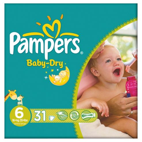 Pampers Baby Dry Size 6 Essential Pack - 31 nappies