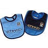 Manchester City Baby 2 Pack Bibs - 2014/15 Season