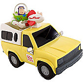Toy Story Pull & Go Pizza Planet Truck Vehicle with Buzz Lightyear