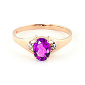 QP Jewellers Diamond & Pink Topaz Oval Desire Ring in 14K Rose Gold