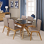 Home Zone Portofino 7 Piece Dining Table Set