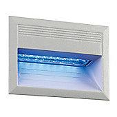 Endon Lighting Outdoor Blue LED Downlight in Matt Silver
