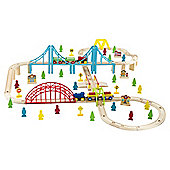 Carousel 100 Piece Wooden Train Set
