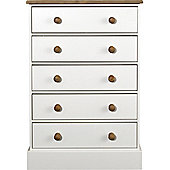 Home Essence Lampton 5 Drawer Wide Chest