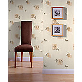 Superfresco Seasons Wallpaper - Cream and Gold
