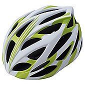 In Mould Helmet Green & White Matt