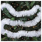 Weiste Christmas Tinsel, White and Silver, 2m