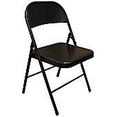Black Metal Folding Chair - Folding Office, Computer, Desk Chair