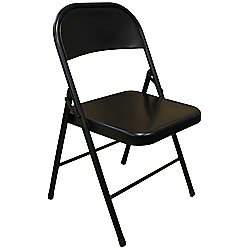 Black Metal Folding Chair - Folding Office, Computer, Desk Chair