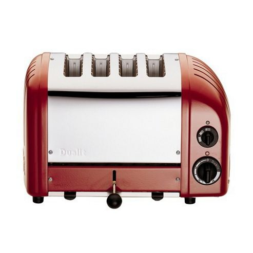 Dualit Combi 2 + 2 Toaster in Red
