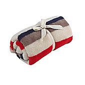 Mothercare Fleece Stroller Blanket- Stripes