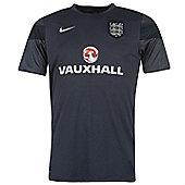 2014-15 England Nike Pre-Match Training Shirt (Navy) - Kids - Navy
