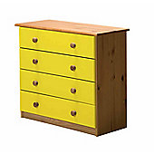 4 Chest of Drawers in Antique and Lime