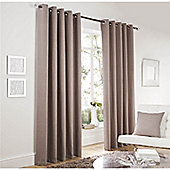 Curtina Lincoln Taupe66x90 inches (168x228cm) Eyelet Curtains