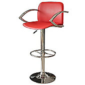 Home Essence Wishbone 53cm Barstool - Red
