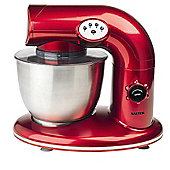 Salter 1000W Stand Mixer, Metallic Red