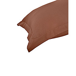 Homescapes Chocolate Egyptian Cotton Oxford Pillow Case 200 TC