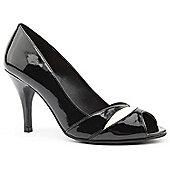Emilio Luca X Red Ladies Elizabeth Black and Cream Peep Toe Heeled Shoes - 8