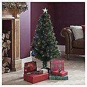 Festive 12V 4Ft/120Cm F/O Tree W/Berries W/130 Tips Green/Multi