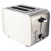 Tesco 2 Slice Toaster - Cream & Stainless Steel