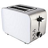 Tesco 2TSSC15 Cream  2 Slice Stainless toaster