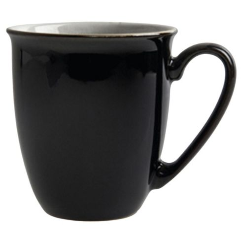 Denby Everyday Mugs, Set of 4, Black Pepper