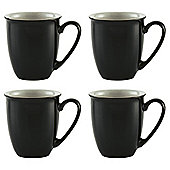 Denby Everyday Mugs, 4 Pack, Black Pepper