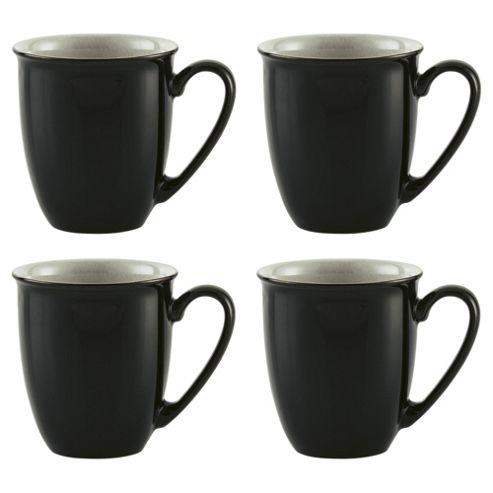 Denby Everyday Mugs, 4 Pack, Black Pepper