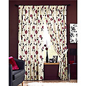 Dreams and Drapes Rosemont 3 Pencil Pleat Lined Half Panama Curtains 90x72 inches (228x183cm) - Red