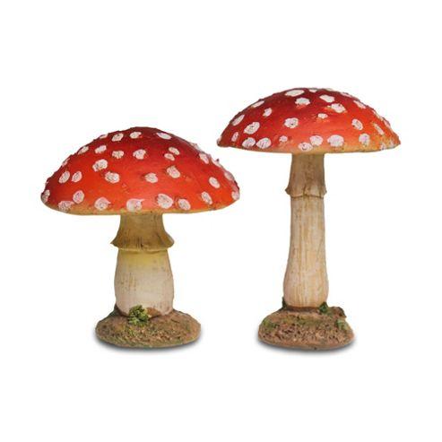 buy pair of red round mushroom toadstool garden ornaments. Black Bedroom Furniture Sets. Home Design Ideas