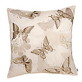 Catherine Lansfield Designer Butterfly Cushion Cover - Natural
