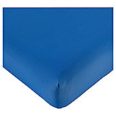 Tesco Fitted Sheet Single Colbalt Blue