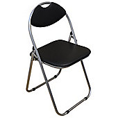 Harbour Housewares Black Padded, Folding, Desk Chair