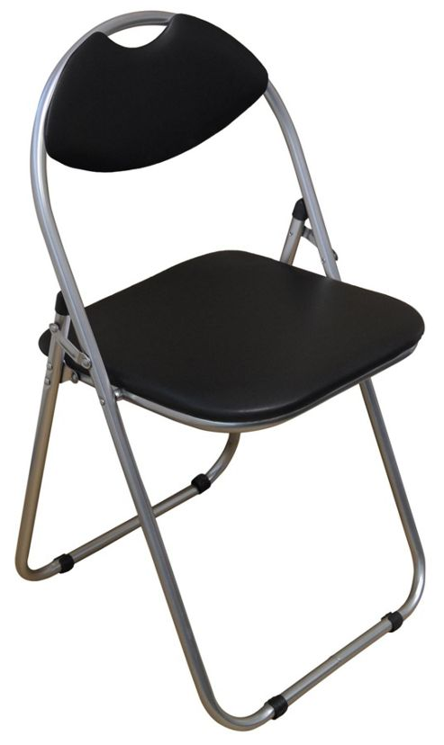 Buy Harbour Housewares Black Padded Folding Desk Chair from our Garden Chai