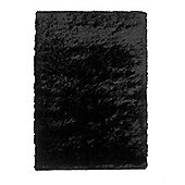 Oriental Carpets & Rugs Sable Black Tufted Rug - 170cm L x 120cm W