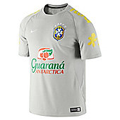 2014-15 Brazil Nike Select Training Shirt (Grey) - Grey
