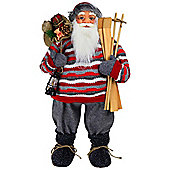 Large 81cm Traditional Father Christmas St. Nicholas Plush Statue Decoration