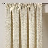 Julian Charles Florence Natural Luxury Pencil Pleat Jacquard Curtains -112x137cm