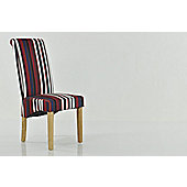 Chelsea Stripe Fabric Dining Chair