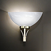 Honsel Brava 1 Light Wall Flush Light - Brass Matt/Brass Polished
