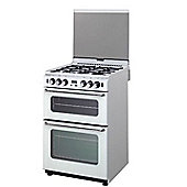 New World GT550DOP Freestanding 55cm Gas Double Oven & Hob in White
