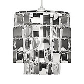 Justus Two Tier Ceiling Pendant Light Shade in Chrome